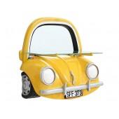 Spiegel VW Gelb mit Regal