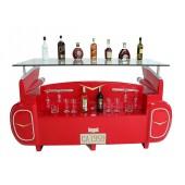 Bar Cadillac Rot mit Kofferraumschrank