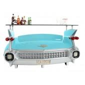 Bar Cadillac Hellblau mit Kofferraumschrank