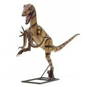 Dinosaurier Velociraptor mit Schlange