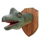 Dinosaurier Brachiosauruskopf auf Holz