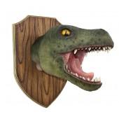 Dinosaurier Tyrannosauruskopf auf Holz