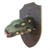 Dinosaurier Gastoniakopf auf Holz
