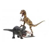 Dinosaurier Triceratops und Raptor
