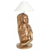 Meerjungfrau Lampe in Gold