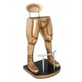 Footballspieler Beine Barhocker Gold