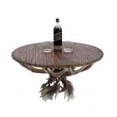 Geweih Esstisch mit Holzplatte