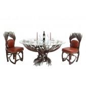 Geweih Esstisch und Stühle