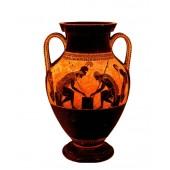 Griechische Vase Schwarz mit Orange
