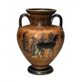 Griechische Vase mit Pferden