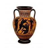 Griechische Vase mit 4 Männern