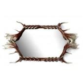Spiegel mit Rahmen aus Geweih