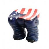 Hocker Hintern Blau mit amerikanischer Fahne