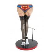 Sexy Frauenbeine Schwarz mit Superman Unterwäsche Barhocker