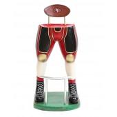 Footballspieler Beine Barhocker Rot