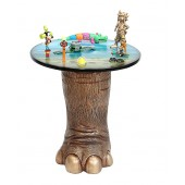 Elefantenbein gold Tisch mit Dschungelplatte