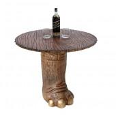 Elefantenbein gold Tisch mit Holzplatte
