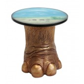 Elefantenbein gold Tisch mit Dschungelmotiv