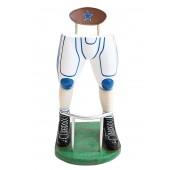 Footballspieler Beine Barhocker Weiß Blau
