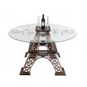 Eiffelturmhälfte Tisch mit Glasplatte