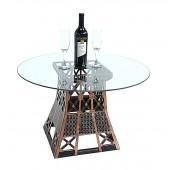 Eiffelturmstück Tisch mit Glasplatte