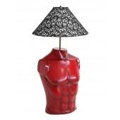 Lampe Oberkörper Weiblich rot