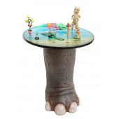 Elefantenbein Tisch mit Dschungelplatte