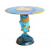 Blauer Koi Karpfen Tisch