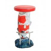 Roter Koi Karpfen Barhocker mit rotem Polster