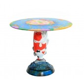 Roter Koi Karpfen Tisch