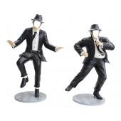 Blues Brothers in schwarzen Anzügen ohne Gesicht