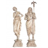 Zeus und Aphrodite Griechische Statuen