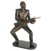 Gangster Al Pacino Scarface mit Waffe Bronze