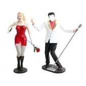 Elvis ohne Gesicht und Marilyn in Rot