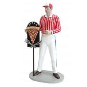 Pizzamann mit PizzaTafel