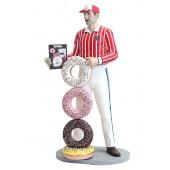 Mann mit Donuts
