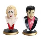 Marilyn und Elvis Büsten