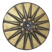 Antikes Mittelalterliches Schild Gold