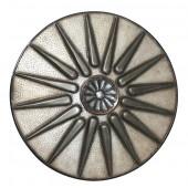 Antikes Mittelalterliches Schild Silber