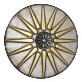 Antikes Mittelalterliches Schild Silber Gold