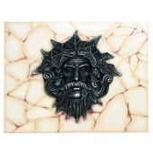 Poseidon Kopf auf Mosaik für Wand