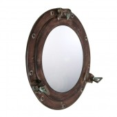 Spiegel Bullauge Dunkelbraun