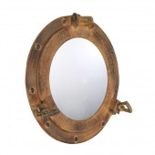Spiegel Bullauge Hellbraun