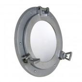 Spiegel Bullauge Silber dunkel
