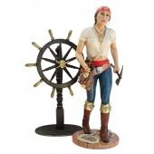 Piratenfrau mit Steuer