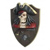 Piratenskelett mit Pistole Wanddeko