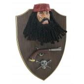 Pirat Blackbeard mit Pistole Wanddeko