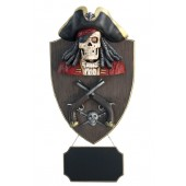 Piratenskelett mit Pistolen und Angebotsschild Wanddeko