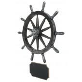 Piraten Schiffssteuer mit Angebotsschild Wanddeko
