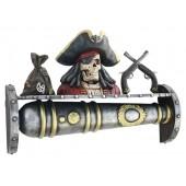 Kanonenregal mit Piratenbüste